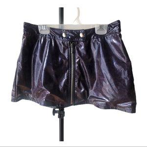 Le Chateau Purple Zipper Down Skirt| Sz 7